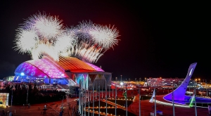 Fireworks begin the Sochi Games, Fisht Stadium. Photo courtesy of nbcnews.com